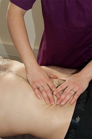 Ostéopathie viscéral homme